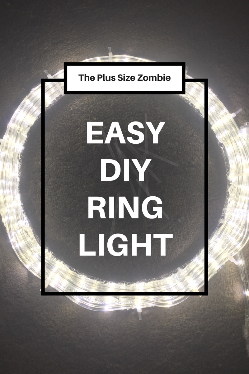 Do it yourself the plus size zombie easy diy diva ring light with pictorial solutioingenieria Choice Image